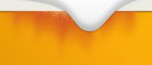 Beer Foam. The Beer Bubbles Bu...