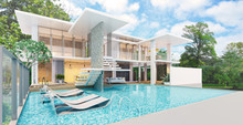 Modern Beautiful House With A ...