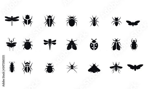 Insect icon set vector design Slika na platnu