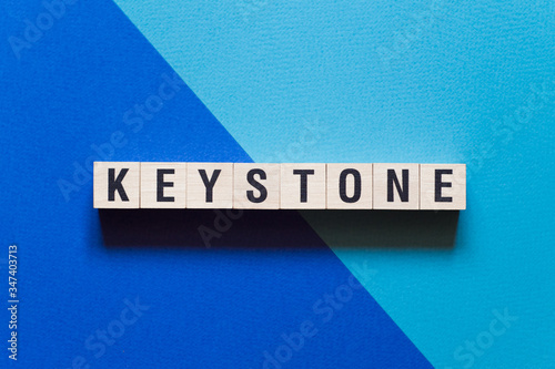Fototapeta Keystone word concept on cubes