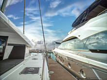A Luxury Yatchs Are Berthing A...