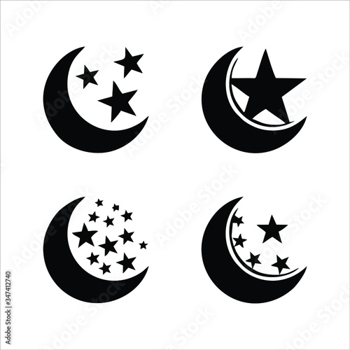 Photo moon icon isolated on white background from space collection