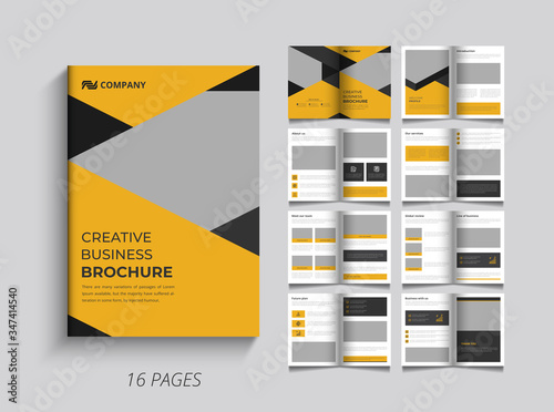 Fotografie, Tablou Pages company profile brochure