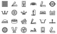 Animal Trap Icons Set. Outline...