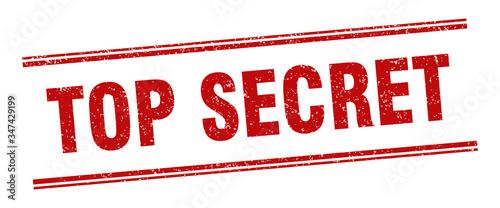 top secret stamp. top secret label. square grunge sign Wallpaper Mural