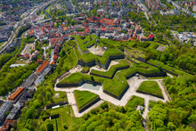 Klodzko Fortress - Aerial View. Klodzko, Lower Silesia, Poland.