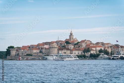 Fototapeta Sailing on adriatic sea Korcula Makarska Korcula Croatia