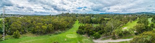 Obraz Wide aerial panorama of Rowville reserve in Melbourne, Australia - fototapety do salonu