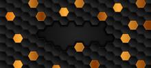 Black Bronze Geometric Hexagon...