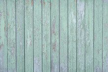 Light Green Wooden Wall Of Ver...