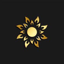 Sun Gold Icon. Vector Illustra...