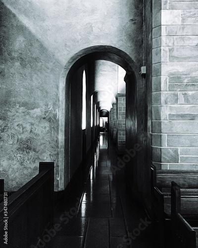 Archway In Corridor Poster Mural XXL