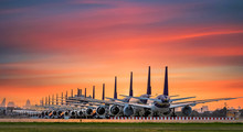 Commercial Airplane Parking At...