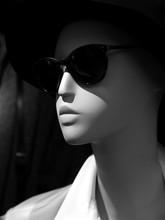 Close-up Of Mannequin Wearing Sunglasses At Store