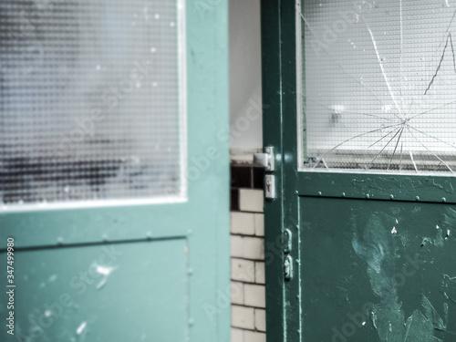 Photo Close-up Of Broken Old Door