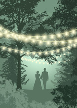 Save The Date Card Lights. Cou...