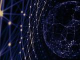Fototapeta Łazienka - Technology modern dynamic plasma energy futuristic virtual technology background,  digitally generated image. 3D illustration