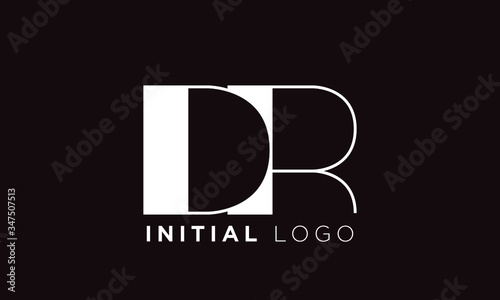 initial letter logo dr, rd, logo template Canvas Print