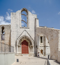 Convent Of Our Lady Of Mount Carmel Catholic Vonvent Located In Historical Part Of Lisbon