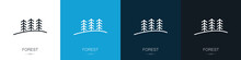 Forest Icons. Set Of Logos. En...