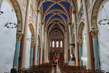 Interior Of Church In Paris France