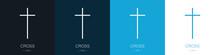 Set Of Logos Of The Crosses. C...
