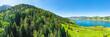 Landscape of central Switzerland. Aegeri Lake.