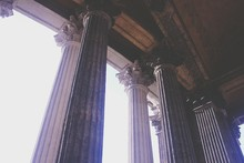 Low Angle View Of Pillars