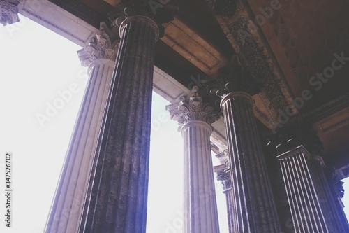 Low Angle View Of Pillars Tapéta, Fotótapéta