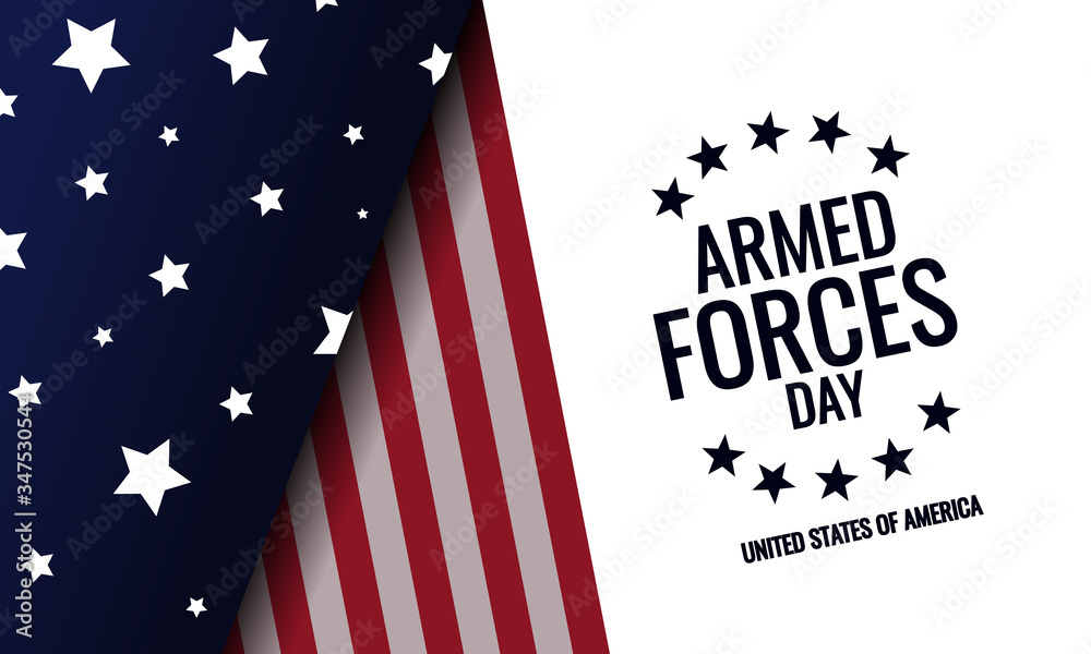 Fototapeta Armed forces day card or background. vector illustration.