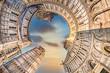 Leinwandbild Motiv Pise, petite planète, tour, Italie, piazza dei Miracoli, monument, tourisme