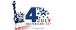 Leinwanddruck Bild - 4th of July, USA celebration of Independence day -  Banner illustration