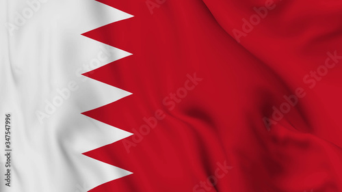 Bahrain flag is waving 3D animation Canvas Print