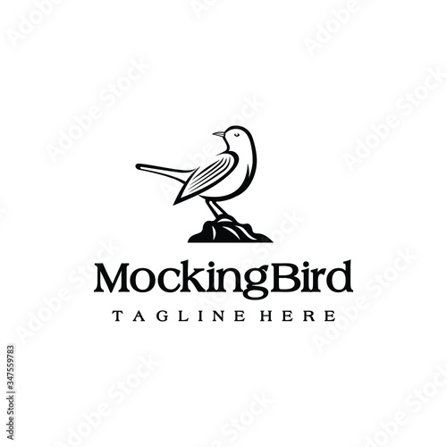 Mockingbird logo design Fototapeta