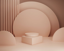 3D Beige Pedestal Display With...
