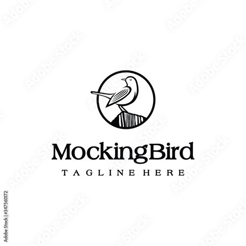 Fotografía Mockingbird logo design