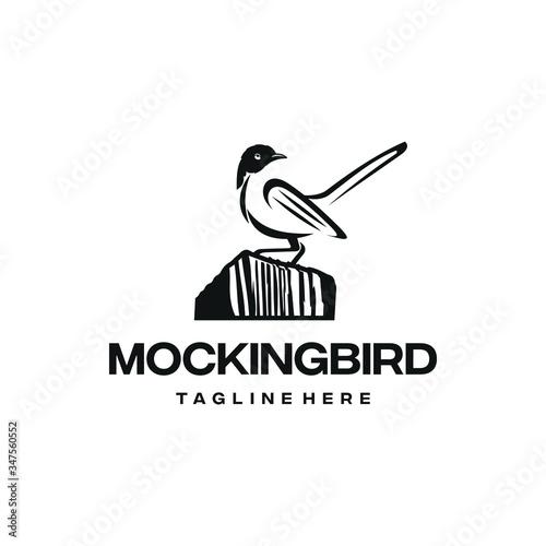 Fotomural Mockingbird logo design