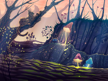 Magic Forest Summer Landscape ...