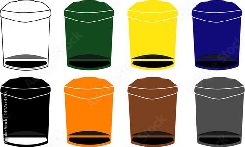 Contenedores de reciclaje y de residuos orgánicos Canvas Print