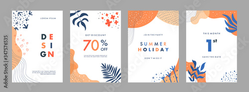 Set of abstract creative artistic templates Canvas-taulu