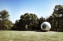 Eyeball Sculpture At Laumeier Sculpture Park Against Sky