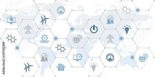 Fotografia smart grid vector illustration