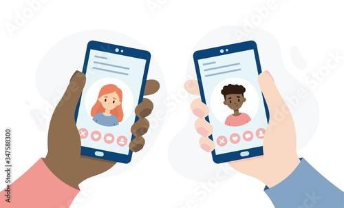 Dating application for smartphones Tapéta, Fotótapéta