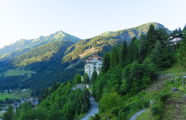 Fototapeta na wymiar mountain landscape in the alps
