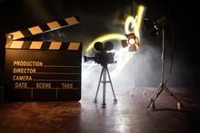 Movie Concept. Miniature Movie...
