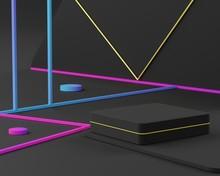 3d Abstract Minimalist Geometr...