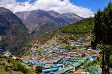 Namche Bazaar Nepal Colorful T...