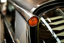 Close-up Of Vintage Car Headli...