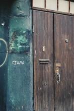 Old Wooden Door In Building