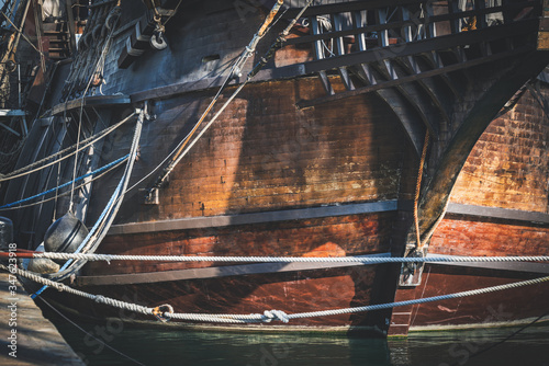 Photo Hull of an old spanish galleon